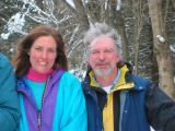 Pam & Bob cross country skiing